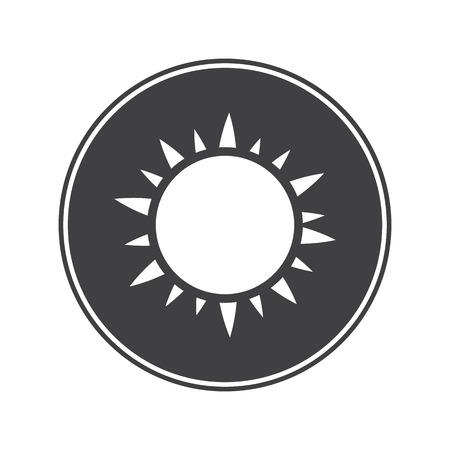 overseas: Sun icon Illustration