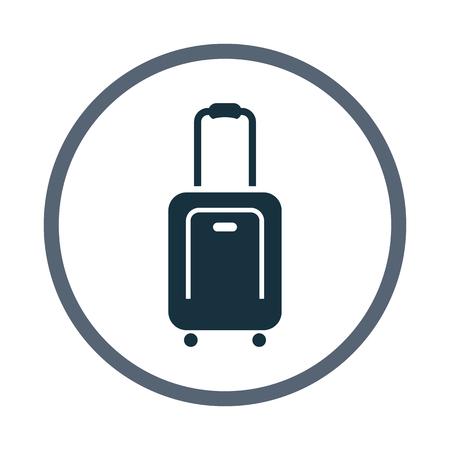 overseas: Suitcase icon Illustration