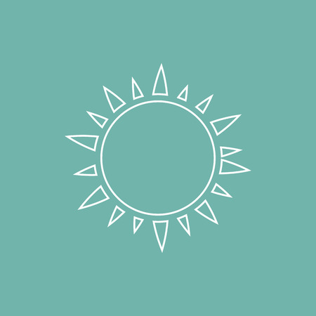 słońce: Sun icon Ilustracja