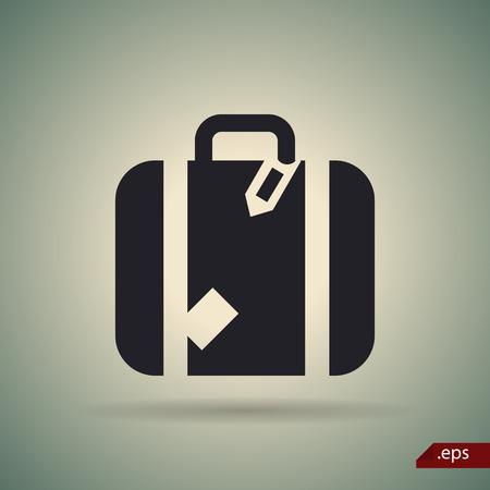 roomy: Suitcase icon Illustration