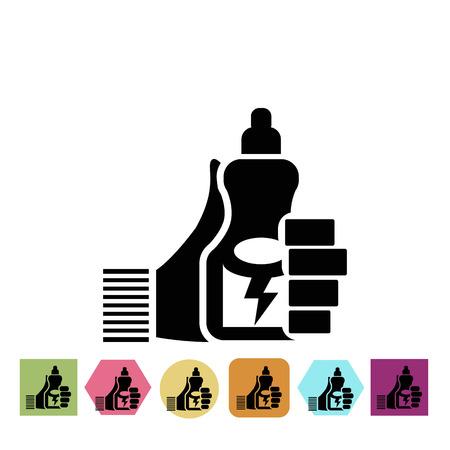 nutrition icon: Sport nutrition icon Illustration