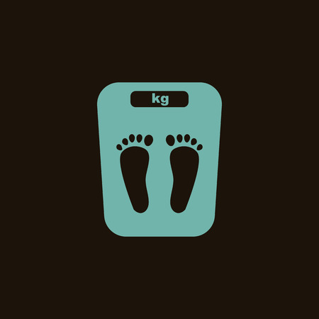weight control: Scales icon Illustration