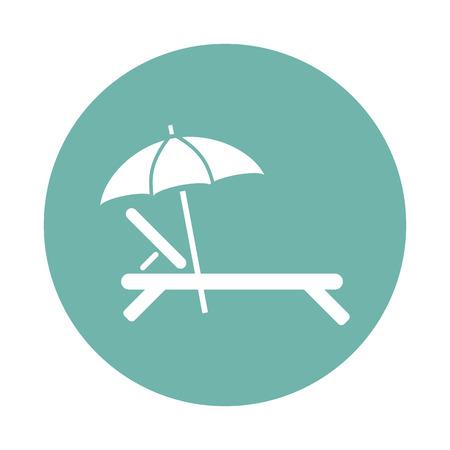 silla playa: Silla de playa con el icono del paraguas