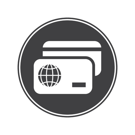 overseas: Credit card icon Illustration