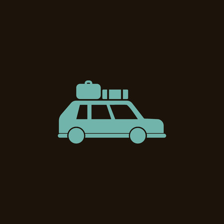 overseas: Car with luggage icon