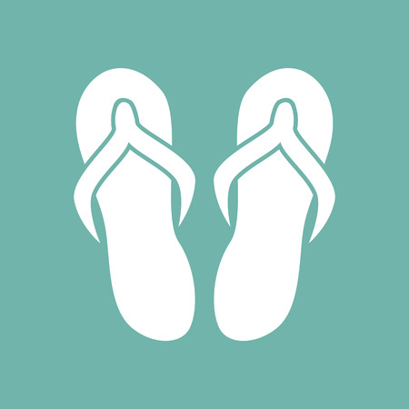 flip flops: Flip flops icon Illustration