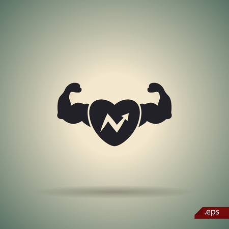 strong: Strong and health body icon
