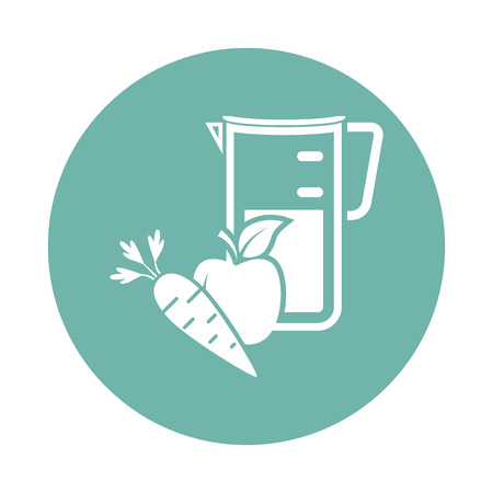 carrot juice: Apple with carrot juice icon