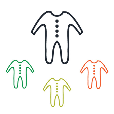 textile care: Baby clothing icon