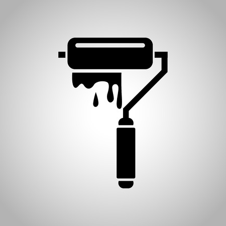 Paint roller icon Illustration