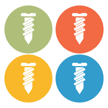 fasteners: Construction screw icon Illustration