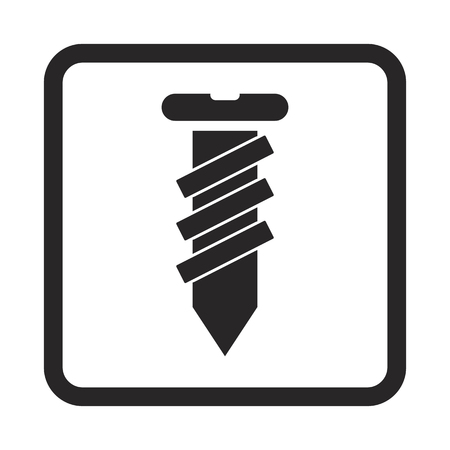 unscrew: Construction screw icon Illustration
