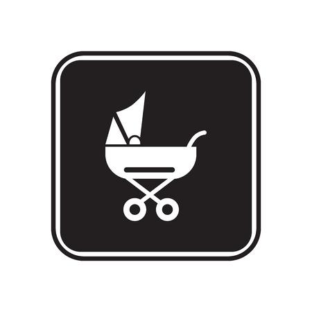 stroller: Baby stroller icon
