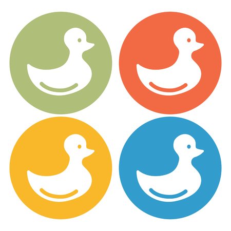 distract: Toy duck icon Illustration