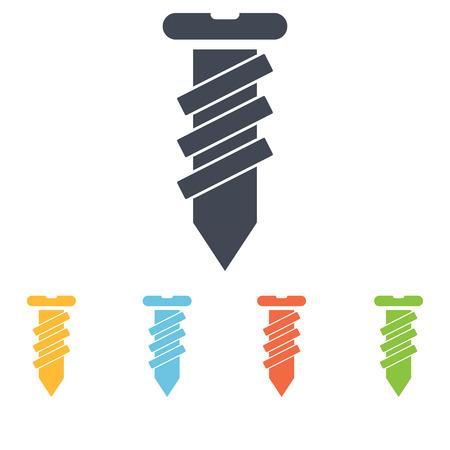 unscrew: Construction screw icon Illustration