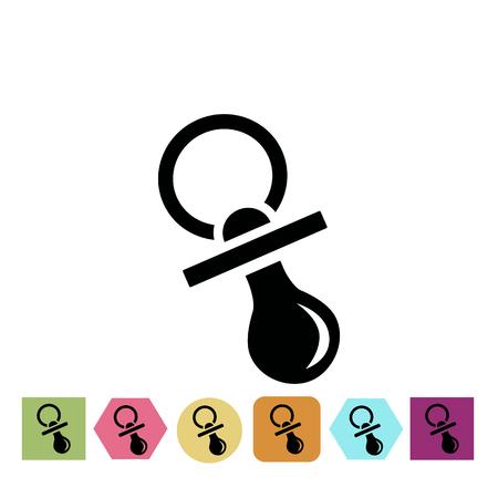 nipple: Baby nipple icon Illustration