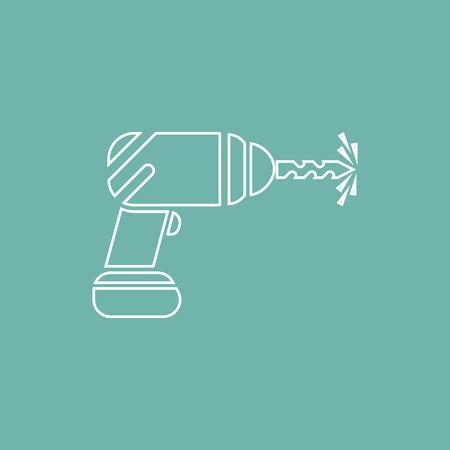 drill: Drill icon Illustration