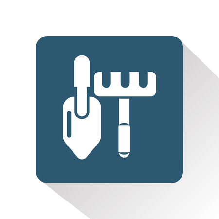 Rakes and shovel icon Иллюстрация