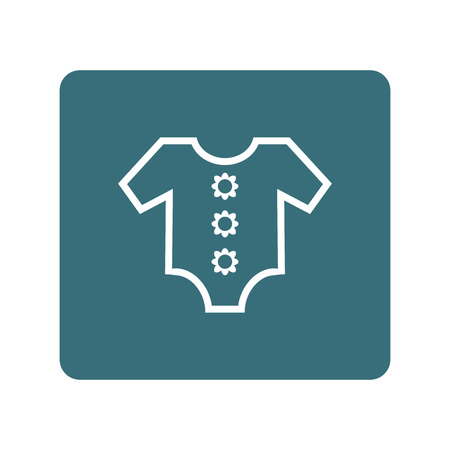 textile care symbol: Baby clothing icon