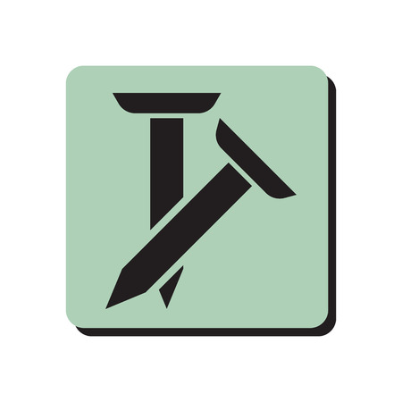 fixate: Pair of spikes icon Illustration