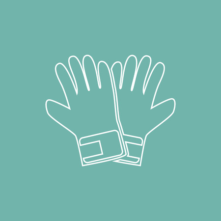 the pair: Pair of gloves icon Illustration