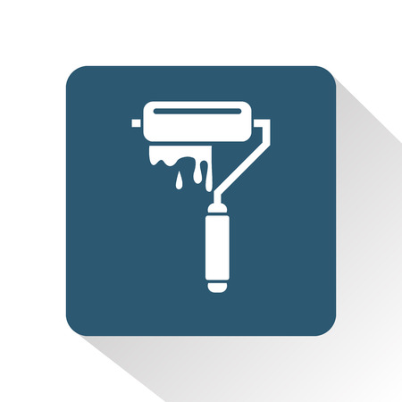 usability: Paint roller icon Illustration