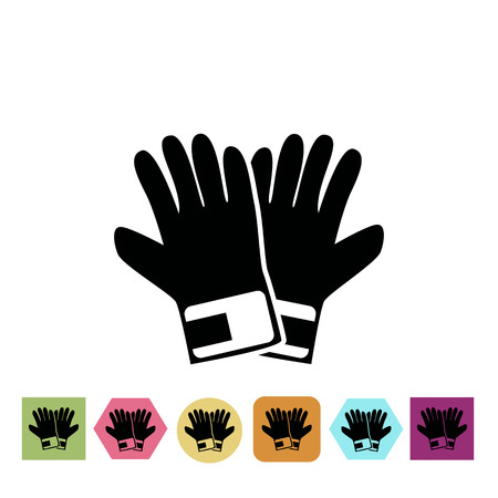 a pair: Pair of gloves icon Vettoriali