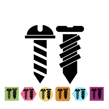 fasteners: A pair of screws icon