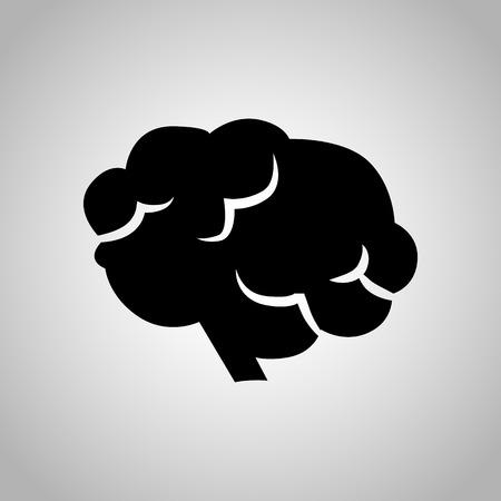 signos vitales: icono de cerebro humano