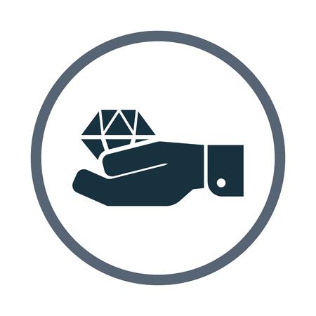 adrenalin: Diamond in hand icon