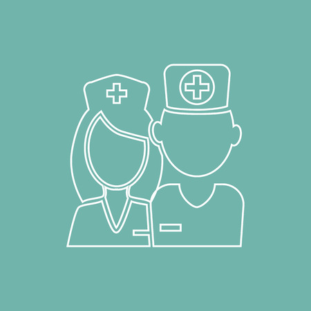 ladies bust: Doctor and nurse icon