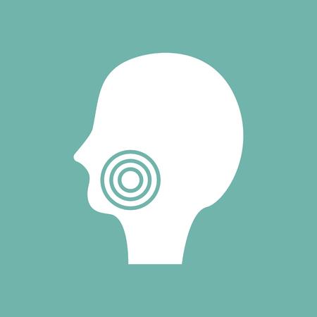dolor de muela: Icono de muelas Vectores