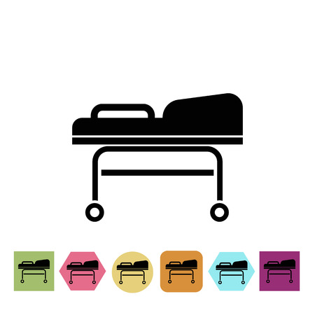 emergency cart: Transport cart icon