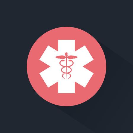 Medicine emblem icon Иллюстрация
