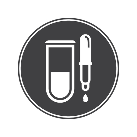 pipeta: Tubo médico con el icono de la pipeta