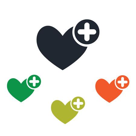 vital signs: Icono de ayuda m�dica Vectores