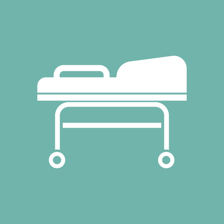 emergency cart: Transport cart icon