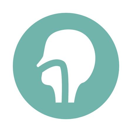 pharynx: Human nasopharynx icon