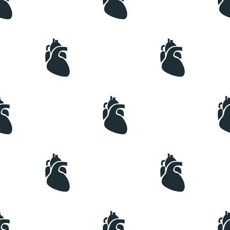 signos vitales: Icono del corazón humano Vectores