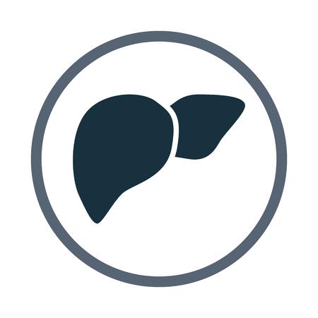 signos vitales: Icono de h�gado humano