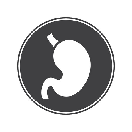 vital: Human stomach icon Illustration