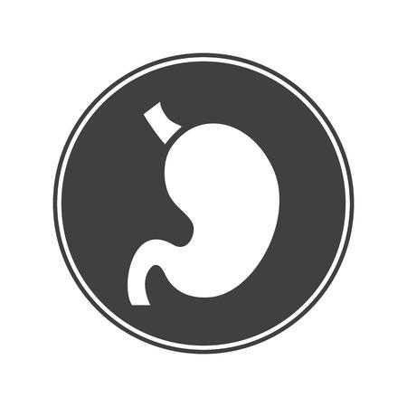 signos vitales: Icono Est�mago humano Vectores