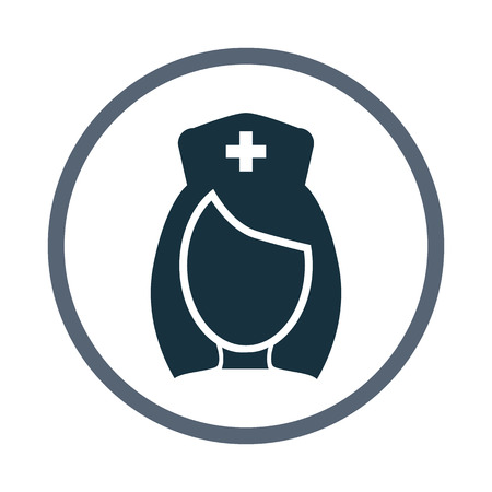 ladies bust: Nurse icon