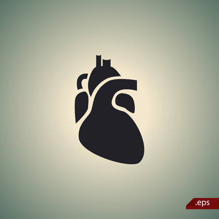 signos vitales: Human heart icon