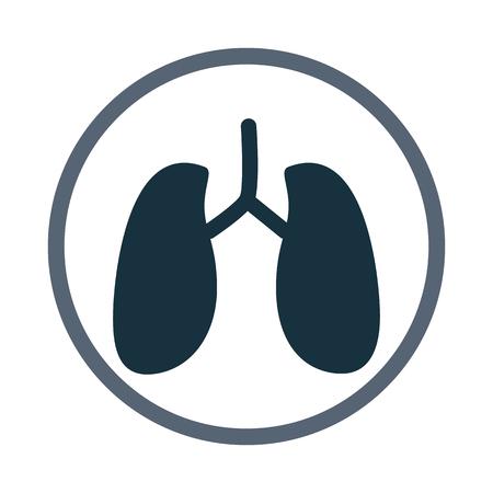 signos vitales: Pulmones humanos icono