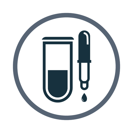 pipette: Medical tube with pipette icon