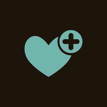 signos vitales: Icono de ayuda médica Vectores