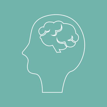 vital signs: Human head with brain icon