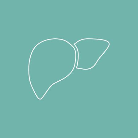 vital signs: Icono de h�gado humano