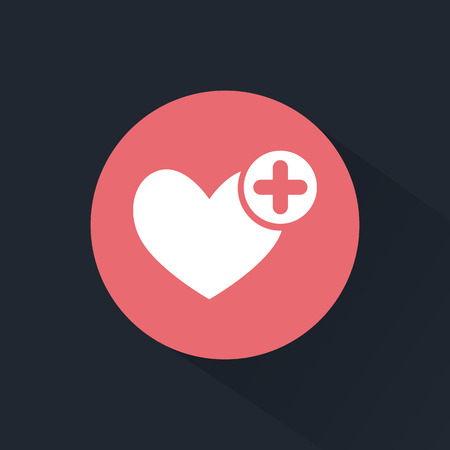 signos vitales: Icono de ayuda m�dica Vectores